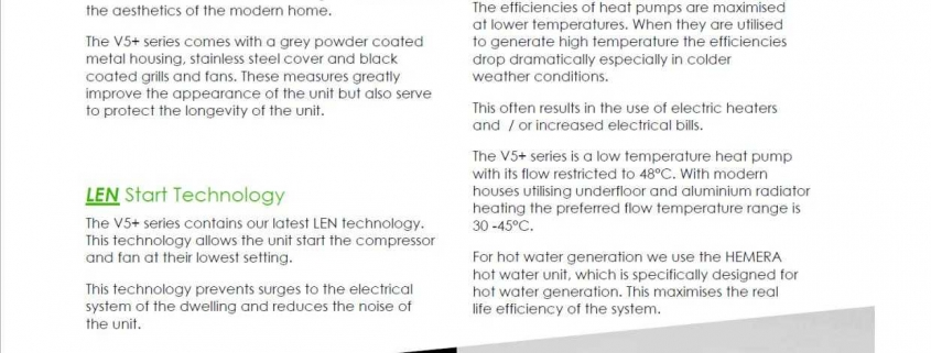 Ventilation Heating Systems Technicsl Specifications